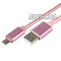 USB кабель KingFire MS-012 microUSB розовый