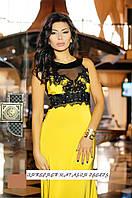 Вечернее платье Каллона - желтое (без шлейфа)
