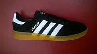 Мужские кроссовки Adidas Handball Spezial черные с белым,размеры с 41 по 45