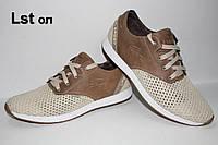 Мужские спортивные туфли Folla (сетка +кожа) оливковые