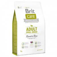 Brit Care Adult Small Breed Lamb&Rice с рисом и ягненком для взрослых собак мелких пород, 3 кг