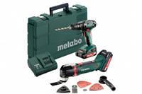 Metabo Combo Set 2.6.2 18 V: (набір) SB 18+MT 18, 2xLi-Power 2,0Аг, SC 60 Plus, Валіза , артикул 685088000