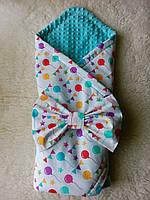 """Конверт-одеяло для новорожденного """"Шарики"""", фото 1"""