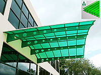 Сотовый поликарбонат Vizor (Визор) зеленый 4 мм