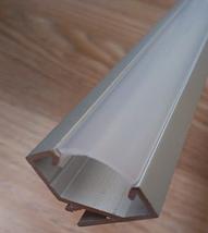 Комплект. Профиль для светодиодной ленты угловой 17х17 мм. ЛПУ17. Матовый. Неанодированный., фото 2