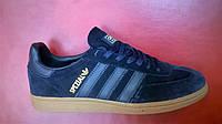 Мужские кроссовки Adidas Handball Spezial синие с голубым, размеры с 41-45