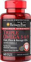 Витамины и Минералы Puritan's Pride Triple Omega 3-6-9 (60 caps)