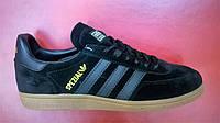 Мужские кроссовки Adidas Handball Spezial черные с серым , размеры с 41 по 45
