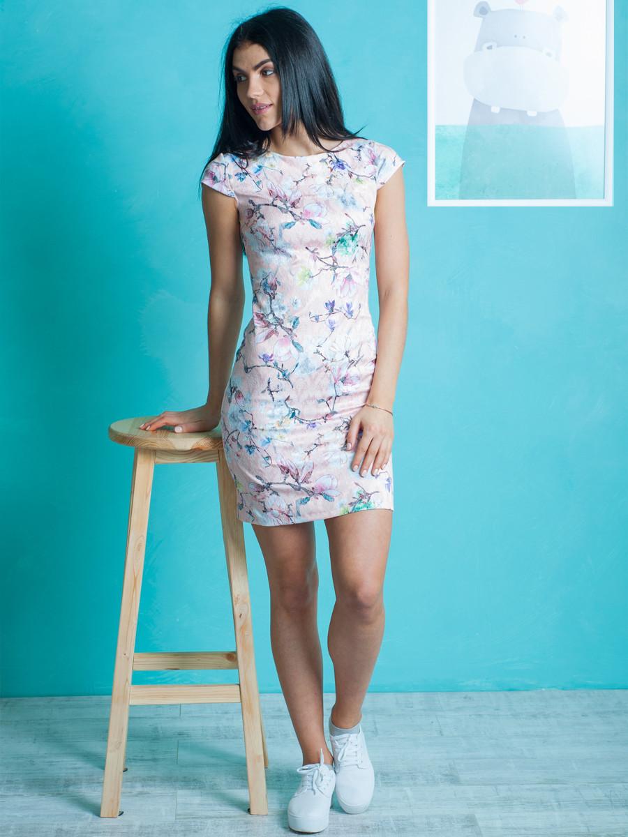 Женское нарядное летнее платье с цветочным узором