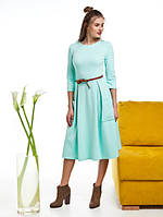 Женское трикотажное платье с пышной юбкой и карманами Frona (разные цвета)