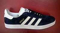 Мужские кроссовки Adidas Gazelle синие с белым,размеры с 40 по46, фото 1
