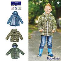 Демисезонная куртка для мальчика на флисе «квартал» (V121-16) BABYLINE (TM: Libellule)