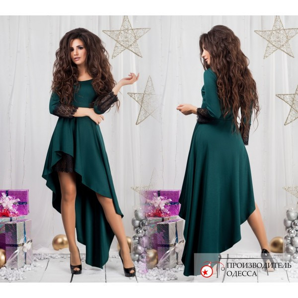 330778ba312 Изумительное вечернее платье асимметрия с гипюром (4 цвета) - IBERIS в  Харькове