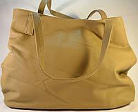 Женская сумка мешок, хобо бежевого цвета из кожзама SP 702B