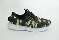 Кроссовки  детские светящейся зеленый хаки (25-30)