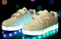 Детские LED кроссовки (белые)