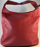 Женская сумка мешок, хобо красного цвета из кожзама SP0286А