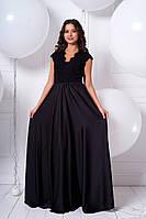 Вечернее платье в пол с шелковой юбкой (белое и черное)