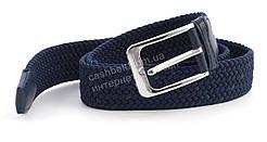 Синий стильный мужской ремень-резинка (100004)