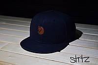 Рэперская кепка,снепбек синий Fjallraven Snapback Cap