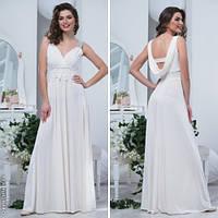 Вечернее белое платье в греческом стиле