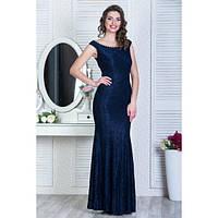 Вечернее кружевное платье с жемчужным украшением (2 цвета)