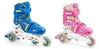 Детские роликовые коньки регулируемые 2в1 32-35