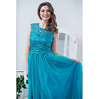 Вечернее пышное платье в пол верх гипюр с камнями (разные цвета)