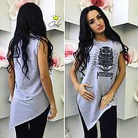 Женская футболка без рукавов Сова Цвета 870 ШМ