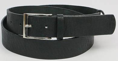 Мужской ремень из натуральной кожи ДхШ: 128х4 см. Zubko A40102C чёрный