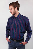 Рубашка мужская темная Fra №869-41 (Темно-фиолетовый)