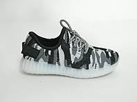 Кроссовки  детские светящейся серый хаки (20-25)