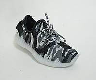 Кроссовки  детские светящейся серый хаки (25-30)