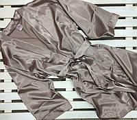 Женский халат атласный на запах цвет капучино,размер XL, фото 1