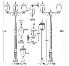 Садово-парковый светильник LUSTERLIGHT DALLAS II 1276S, фото 3