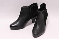 Элегантные Ботиночки на Весну Кожаные Черные