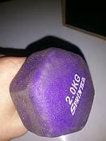Гентель неопрен фиолетовая 2 кг (без пары)