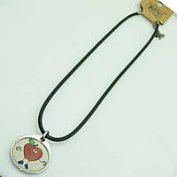 Детский кулон яблочко. Женские кулоны с шнурками RRR оптом. 245