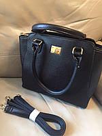 Стильная женская сумка D&G материал эко кожа, есть длинная ручка, размер 34*24 см. Цвет черный