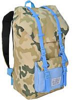 """Молодежный рюкзак с отделом для ноутбука 15,6"""", 25 л. Paso CM-192B камуфляж/голубой"""