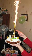 Тортовая свічка Фонтан 12,5 см