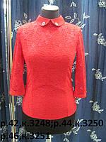Блуза гипюровая, р.42-50 код 3248М