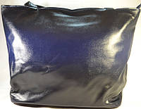 Женская чорно-синяя сумка-мешок, хобо 012