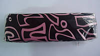 """Пенал-косметичка атласный """"Графити"""",200*50*40мм для школьников и студентов.Пенал косметичка на молнии из плотн"""