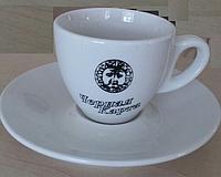 """Чашка+блюдце """"Черная карта"""" для эспрессо"""