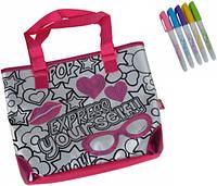 Мини-сумочка с паетками Фешн, 5 маркеров, 28×24 см, Color Me Mine
