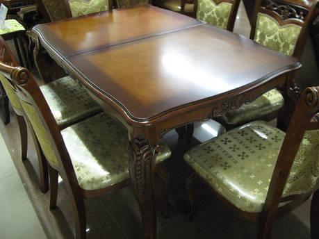 Стол обеденный раскладной  DM-P73 Ext olb, цвет орех, фото 2
