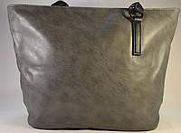 Женская серая сумка-мешок, хобо 012
