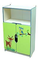 Шкаф детский ЗВЕРЮШКИ №3 полузакрытый, фото 1