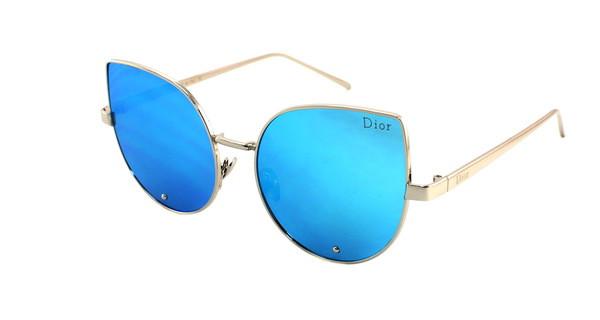 Модные солнцезащитные очки 2017 Dior с голубыми линзами